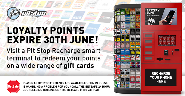 Redeem Gift Vouchers with your Precious Rewards Points!