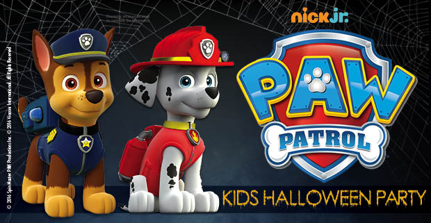 Meet Paw Patrol at our Kids Halloween Party