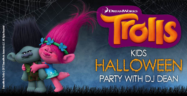 Kids FREE Halloween party with DreamWorks Trolls