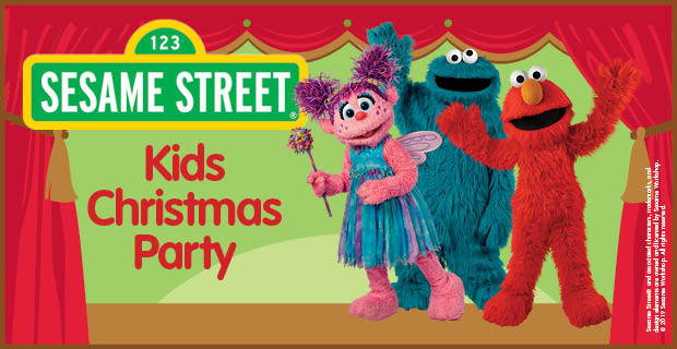 Sesame Street Kids Christmas Party